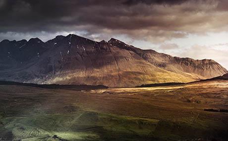 Ispirazione cielo terra decorazione montagne