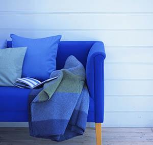 Ispirazione colori decorazione divani blu