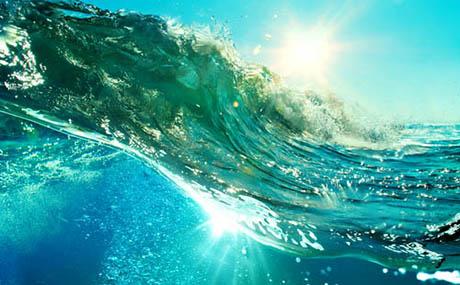 Ispirazione decorazione oceano onda sottomarina
