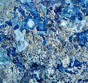 Ispirazione decorazione oceano opale blu