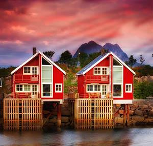 Ispirazione boreale decorazione case scandinave